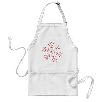 Snowflake - Red Stitches Standard Apron