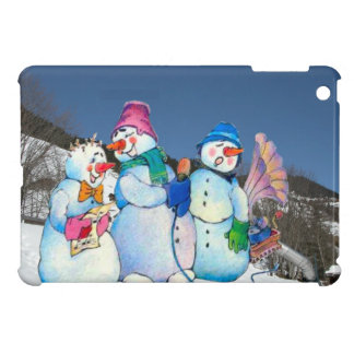 Snowman band singing on the hillside iPad mini covers