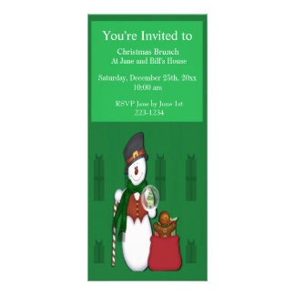 Snowman in Tophat Personalized Rack Card