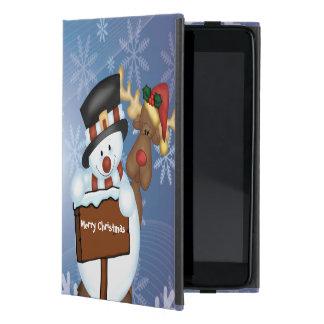 Snowman & Reindeer iPad Mini Case