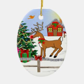 Snowman & Rudolf Tree Ornament