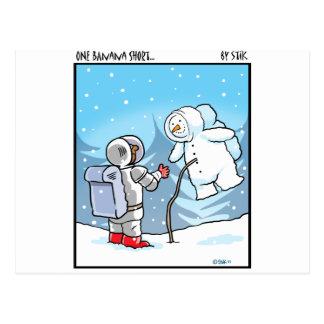Snowman Spaceman Postcard