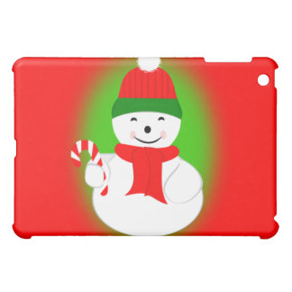 Snowman with Candy Cane Case For The iPad Mini