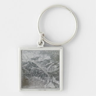 Snowy and hazy central Russia showing the Ob Ri Silver-Colored Square Key Ring