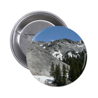 Snowy Granite Domes I Yosemite National Park 6 Cm Round Badge