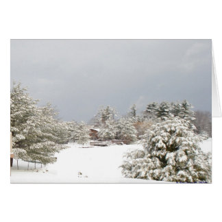 snowy lake winter scene notecard note card