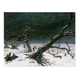 Snowy Winter Landscape - Friedrich Postcard
