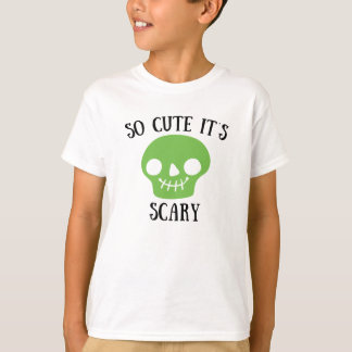 So Cute It's Scary Halloween Skeleton Lime Green Tshirt