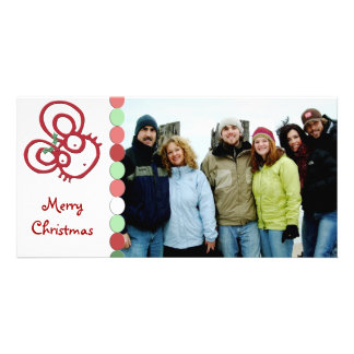 So Cute Merry Christmas Mouse Customized Photo Card
