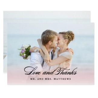 So in Love | Wedding Thank You Photo 13 Cm X 18 Cm Invitation Card