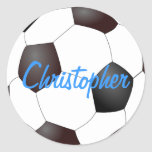 Soccer Ball - Customisable Round Sticker