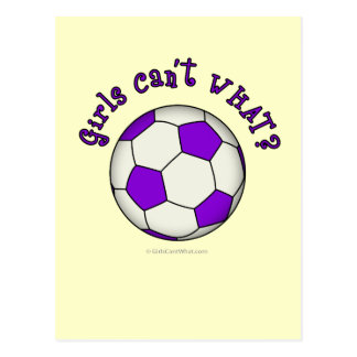 Soccer Ball in Purple Postcard