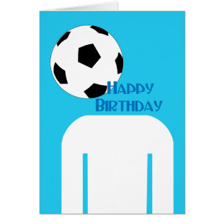 Soccer Football Head happy Birthday Greeting Card