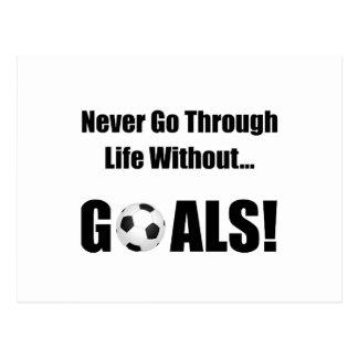 Soccer Goals Postcard
