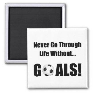 Soccer Goals Square Magnet