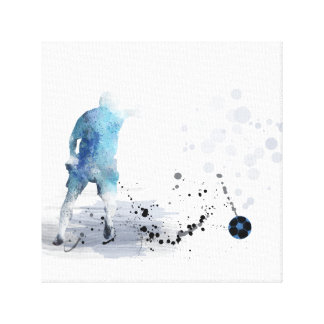 SOCCER PLAYER 6 - Stretched Canvas Print
