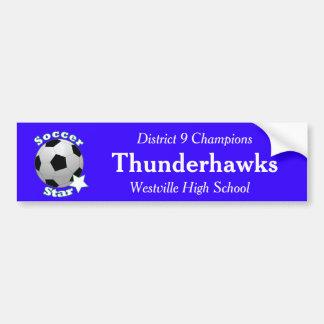 Soccer Star with Team Information Bumper Sticker