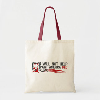 Socialist's Red Paint Budget Tote Bag