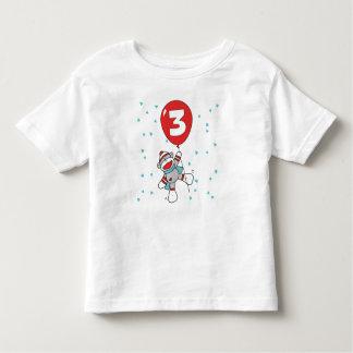 Sock Monkey 3rd Birthday Tshirt
