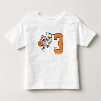 Sock Monkey Hoops 3rd Birthday T Shirts