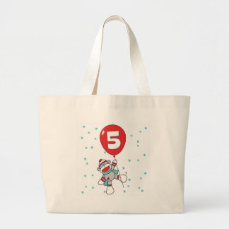 Sockmonkey 5th Birthday Jumbo Tote Bag