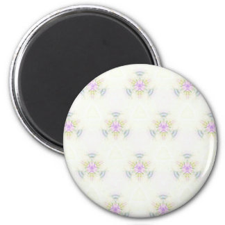 Soft Barely There Pastels Seamless Pattern 6 Cm Round Magnet