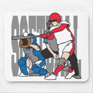 Softball Action Mouse Pad