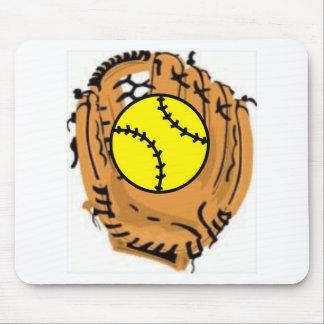 Softball Catcher Mouse Pad