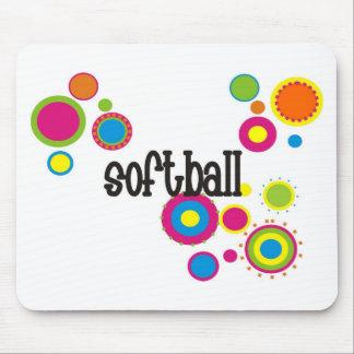 Softball Cool Polka Dots Mouse Pad
