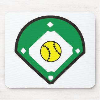 Softball Diamond Mouse Pad