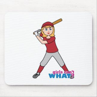 Softball Girl Mouse Pad