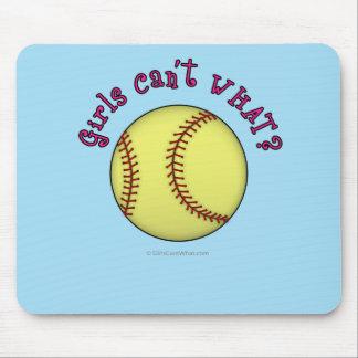 Softball-Pink Mouse Pad