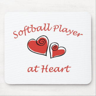 Softball Player at Heart Mouse Pad