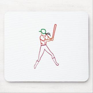 Softball Player Mouse Pad