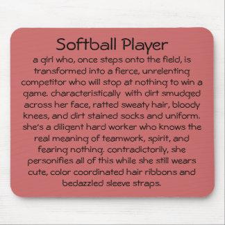 Softball Player Mousepad
