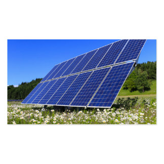 Solar Panels and green meadow Pack Of Standard Business Cards