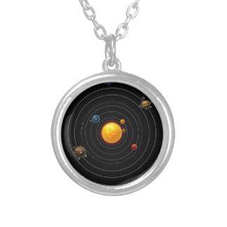 Solar System Round Pendant Necklace