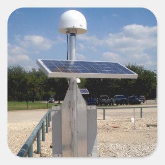 Solar Technology Square Sticker
