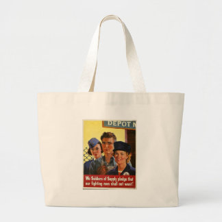 Soldiers Of Supply World War 2 Jumbo Tote Bag
