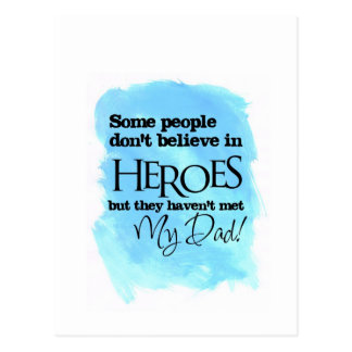 Some people don't believe in Heroes Postcard