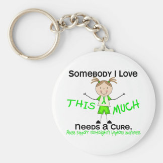 Somebody I Love - Non-Hodgkins Lymphoma (Girl) Basic Round Button Key Ring