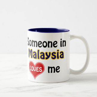 Someone in Malaysia loves me Two-Tone Mug