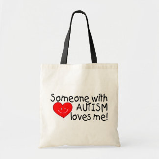 Someone With Autism Loves Me Budget Tote Bag