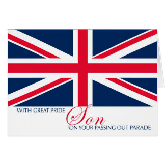 Son Passing Out Parade Union Jack Flag Sentimental Greeting Card