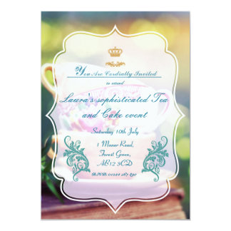 Sophisticated Summer party 13 Cm X 18 Cm Invitation Card