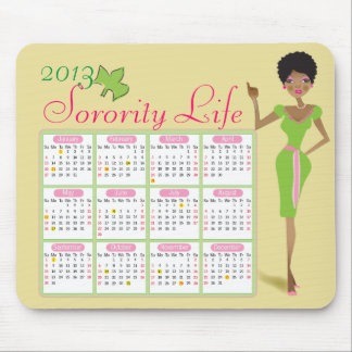 Sorority Life Calendar Mousepad