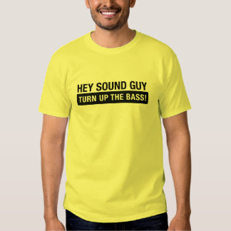 Sound Guy Bass Concert Shirt for Bassists