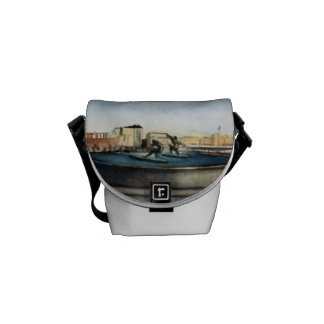 Source of the surfers (To Corunna) Watercolor Messenger Bag