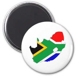 South Africa Flag Map full size 6 Cm Round Magnet
