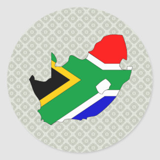 South Africa Flag Map full size Round Sticker